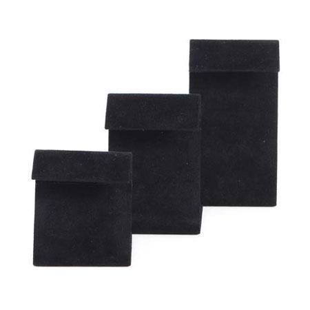 Black Suede Modern Earring Stand (Medium)