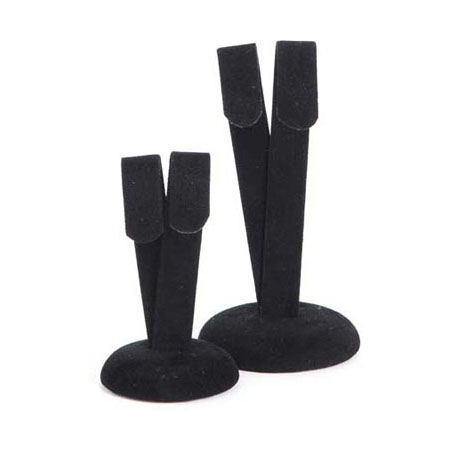 Black Suede Drop Earring Stand (large)
