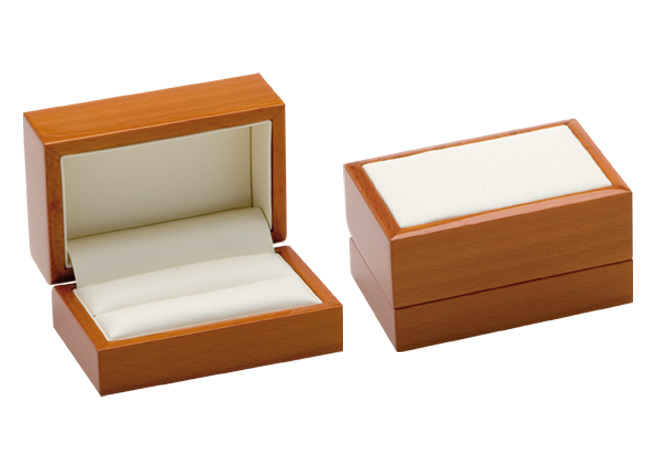 Luxury Leather Double Ring/ Cufflinks Box