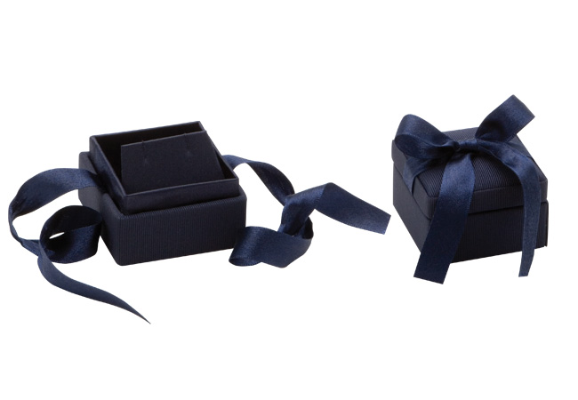 Blue Ribbon Earring Box