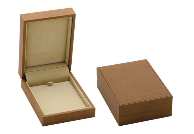Brown Suede Pendant/ Light Brown Suede Pendant Box