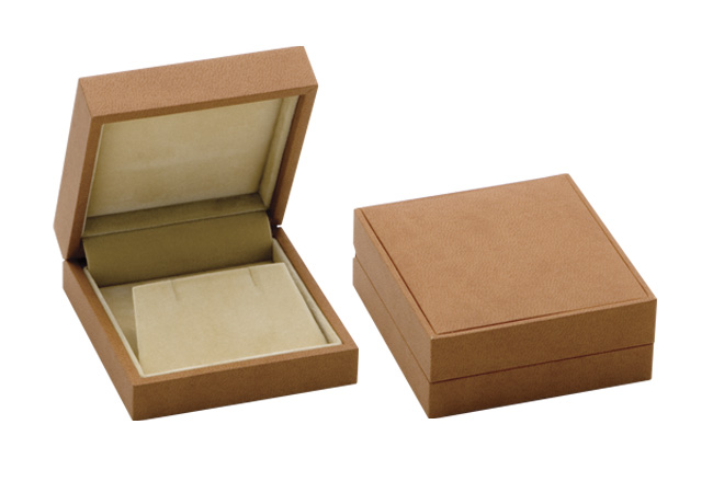 Brown Suede Earring/ Light Brown Suede Earring Box